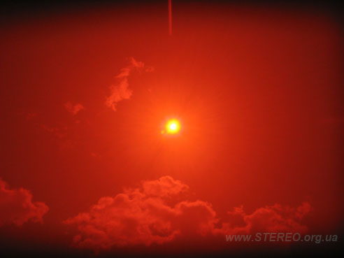 Solar Eclipse thru filter with auto photo exposure