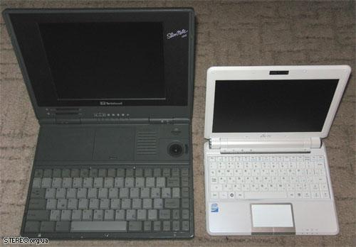 Twinhead Slimnote 486DX/33 (мой первый ноутбук) и Eee PC 901