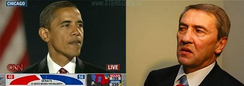 Новый президент США Барак Обама, новый мэр Киева Леонид Черновецкий