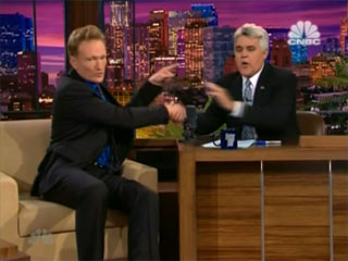 Conan O'Brien - '1st guest' of Jay Leno at Jay's final show
