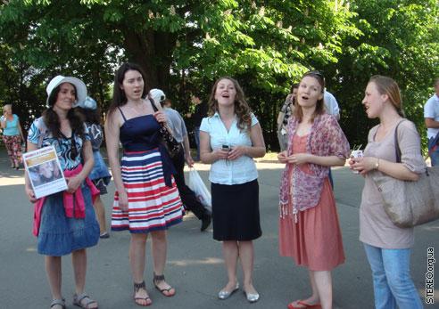 Концерт а'капелла в Ионинском на акции 22 мая