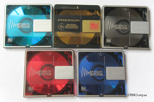 My Sony minidisc collection