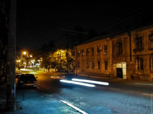 Ночной Польский спуск.