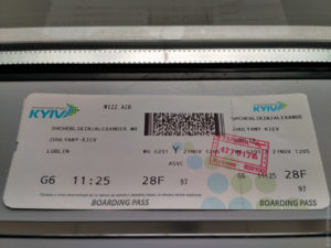 Билет на самолёт с серебристым крылом