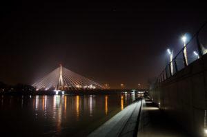 Набережная Вислы и вантовый мост