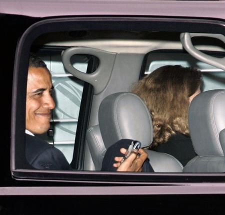 Барак Обама с Блэкберри