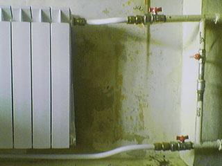 Bimetal radiator with pipes & valves